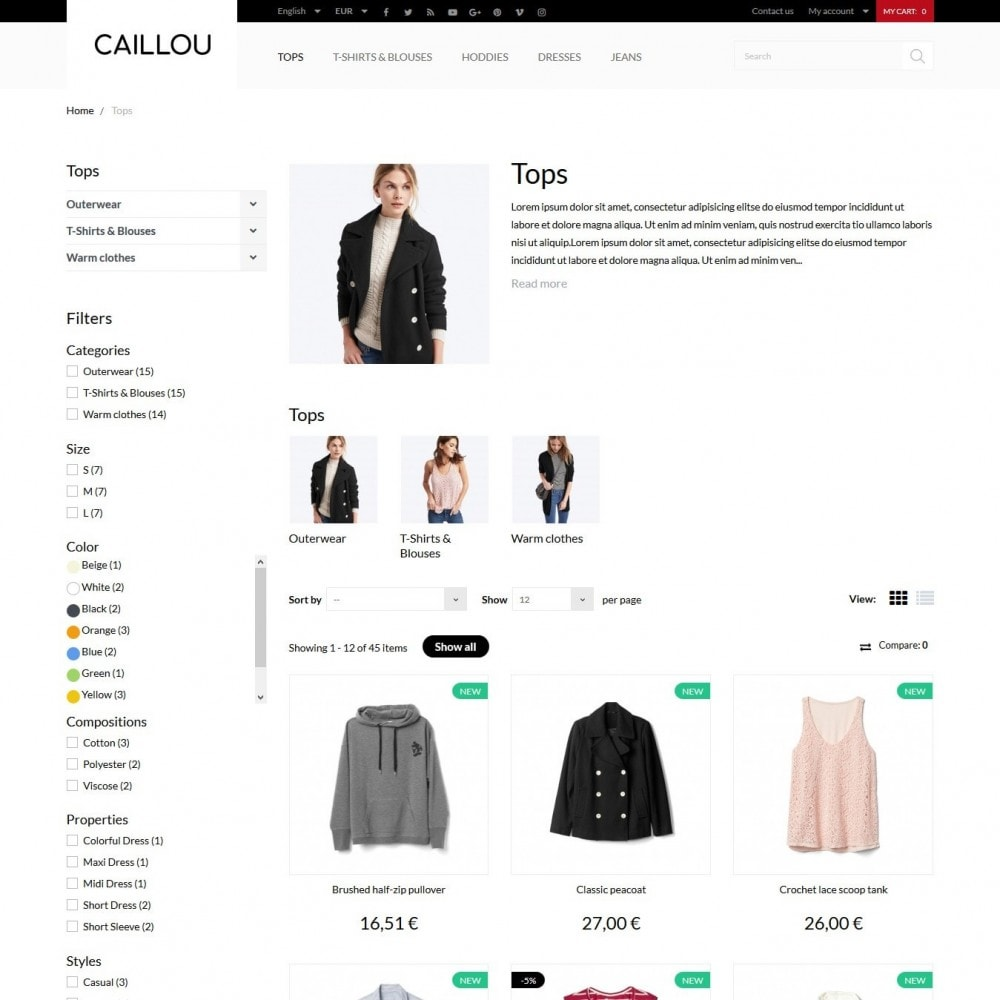 theme - Мода и обувь - Caillou Fashion Store - 6