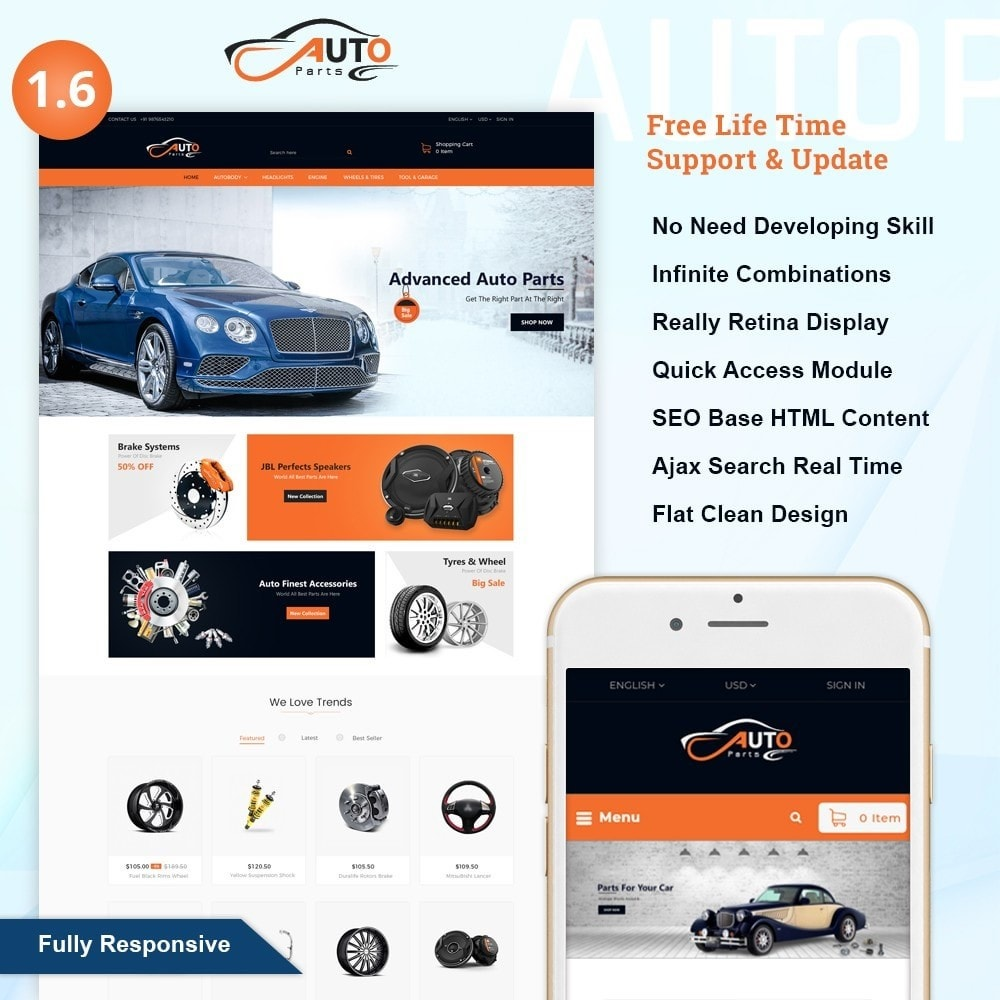 theme - Automotive & Cars - Auto Part - Automotive Shop - 1