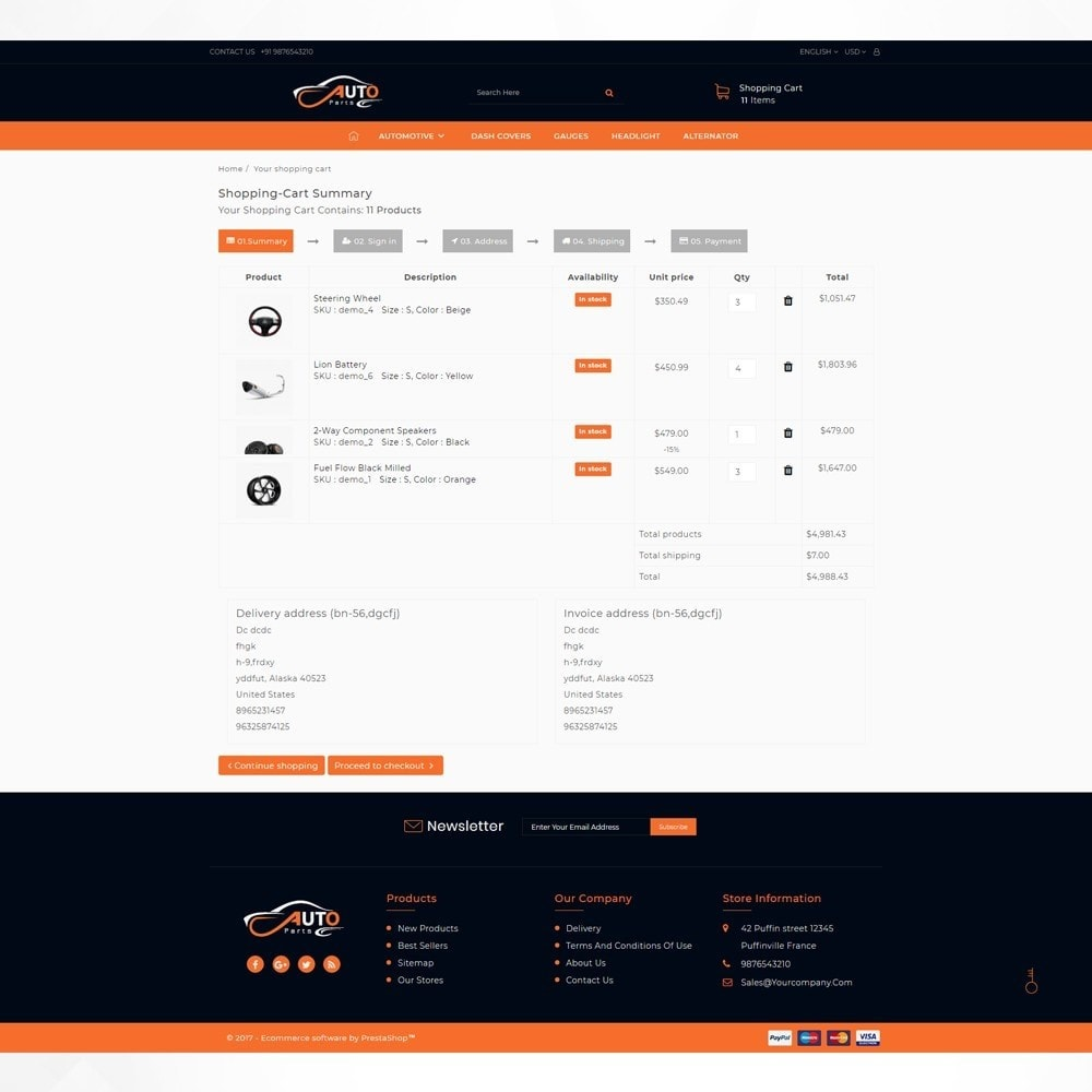 theme - Automotive & Cars - Auto Part - Automotive Shop - 5