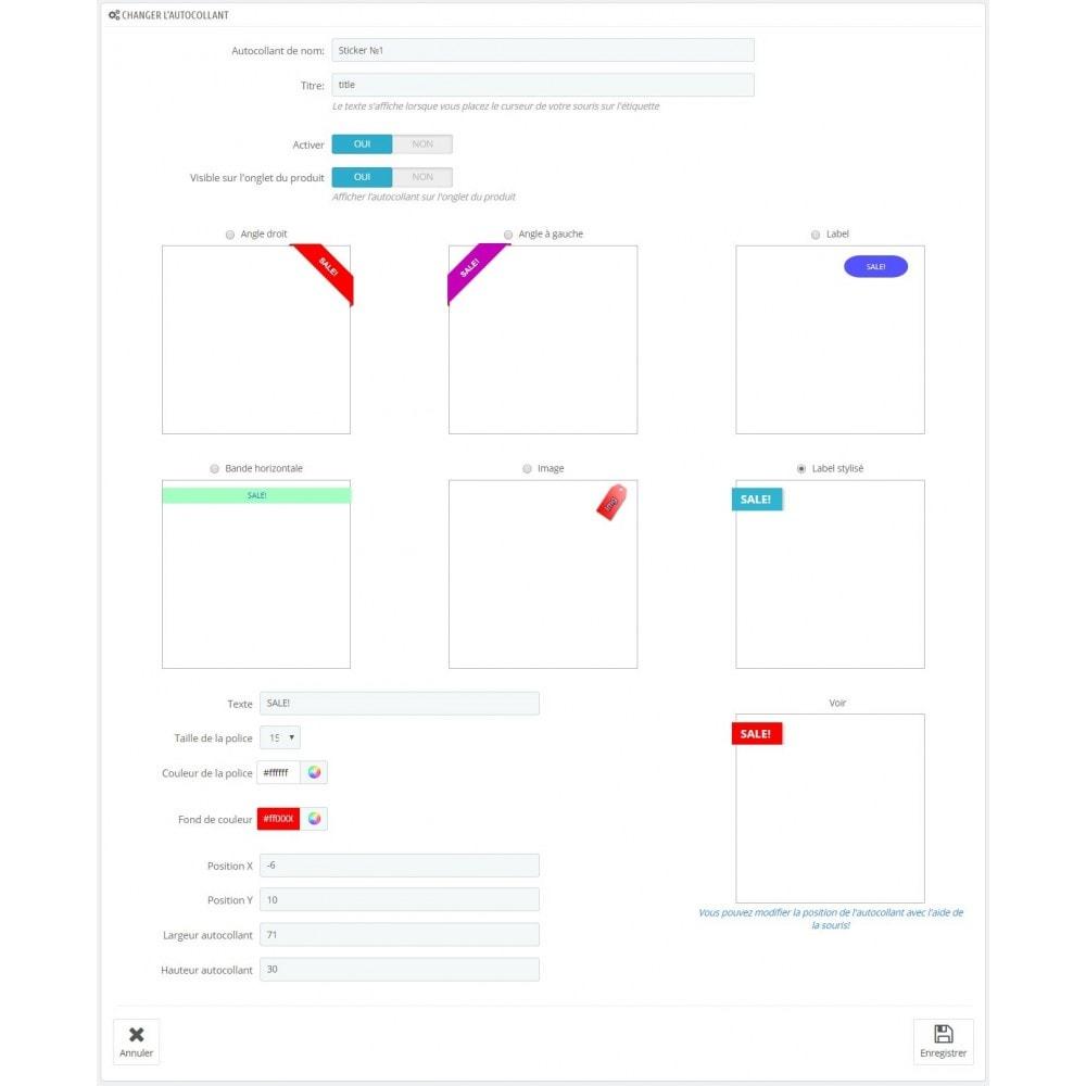 module - Etiquettes & Logos - Autocollants modifiés de Bobs - 5