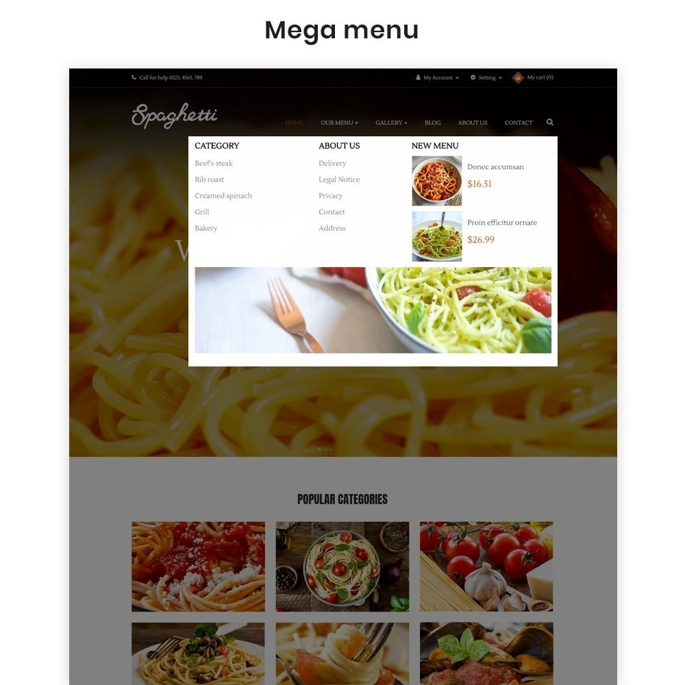theme - Food & Restaurant - Ap Spaghetti - 3