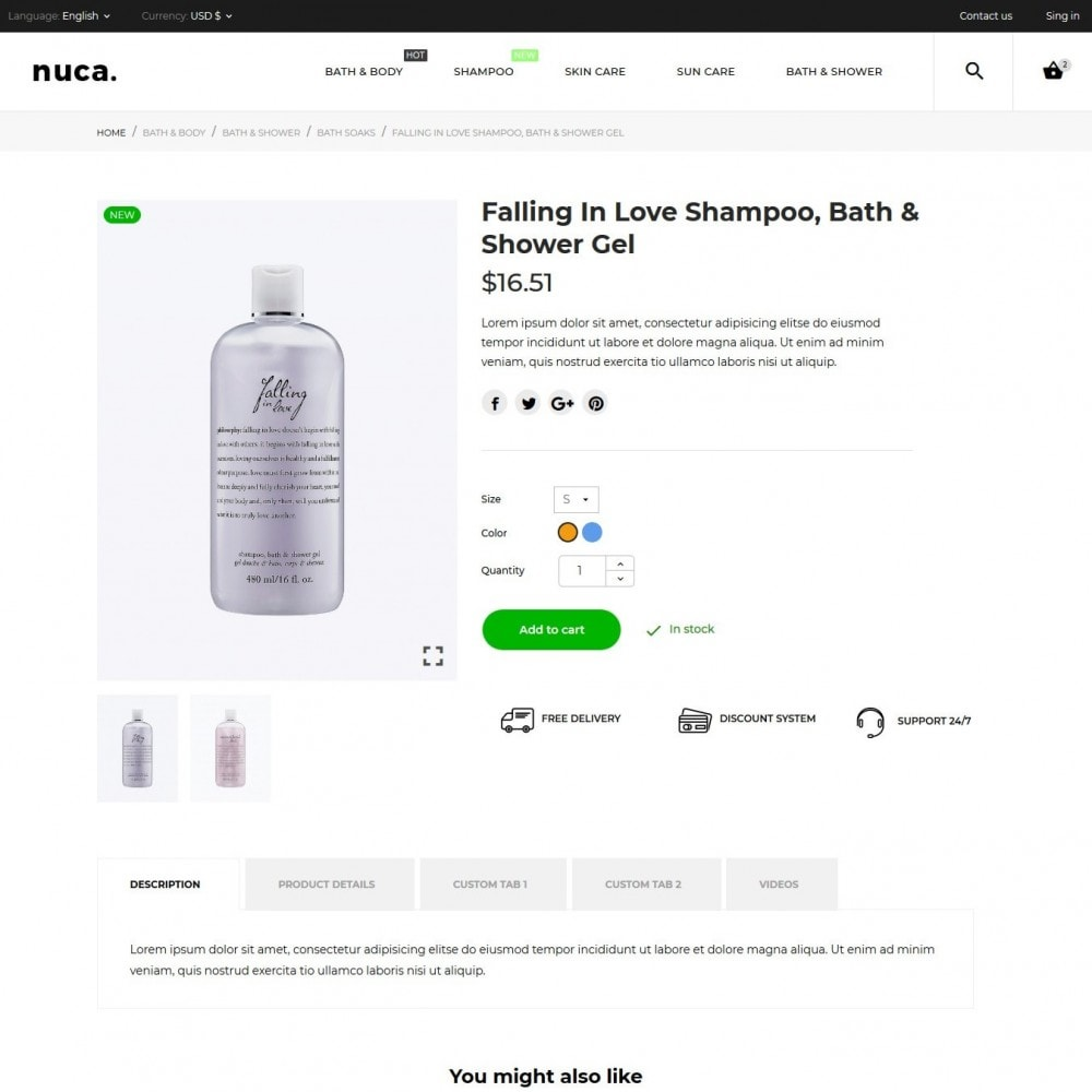 theme - Health & Beauty - Nuca Cosmetics - 8