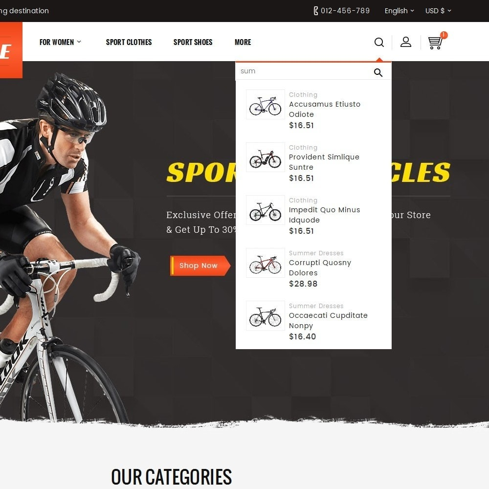 theme - Sports, Activities & Travel - Sports Bicycle - 10