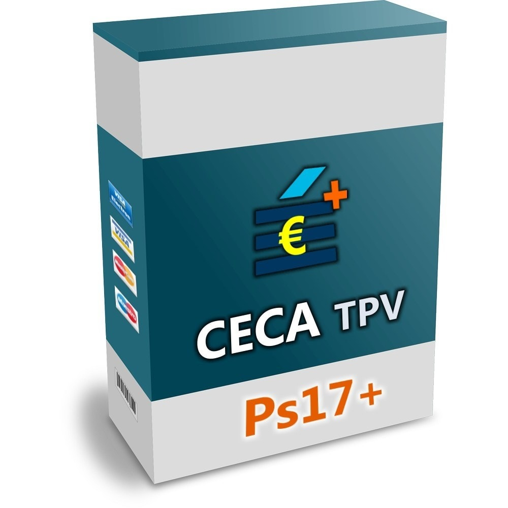 module - Creditcardbetaling of Walletbetaling - CECA TPV PS17+ Secure Pay with credit cards - 1