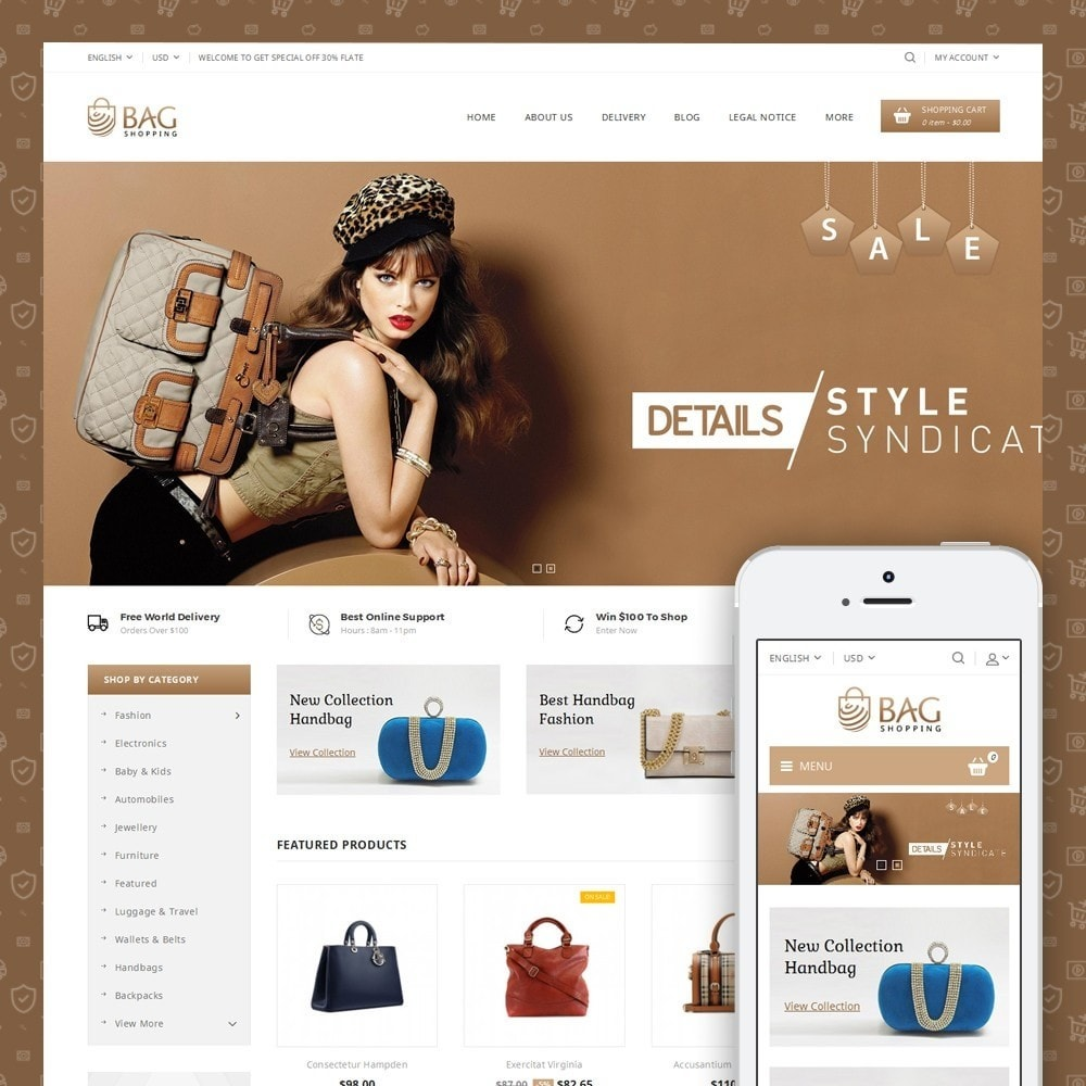 theme - Mode & Chaussures - Bag Shop - 1