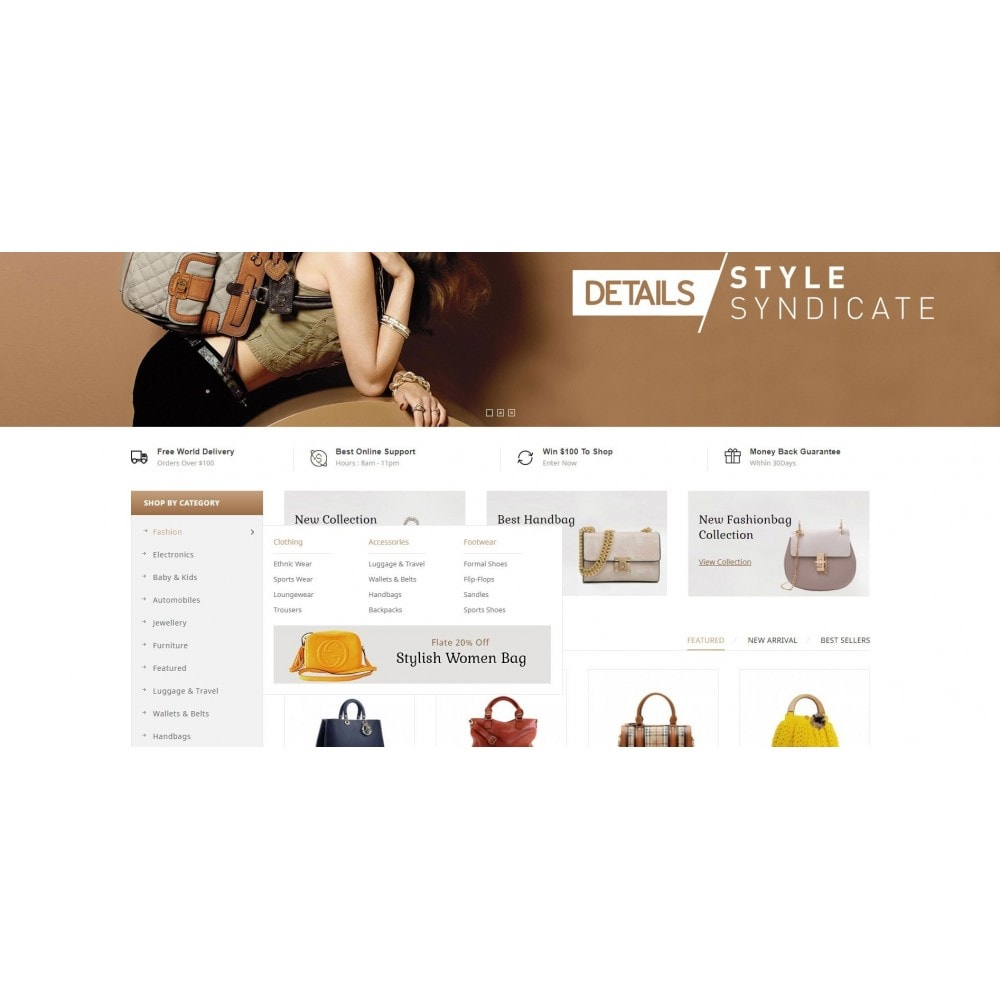theme - Mode & Chaussures - Bag Shop - 8