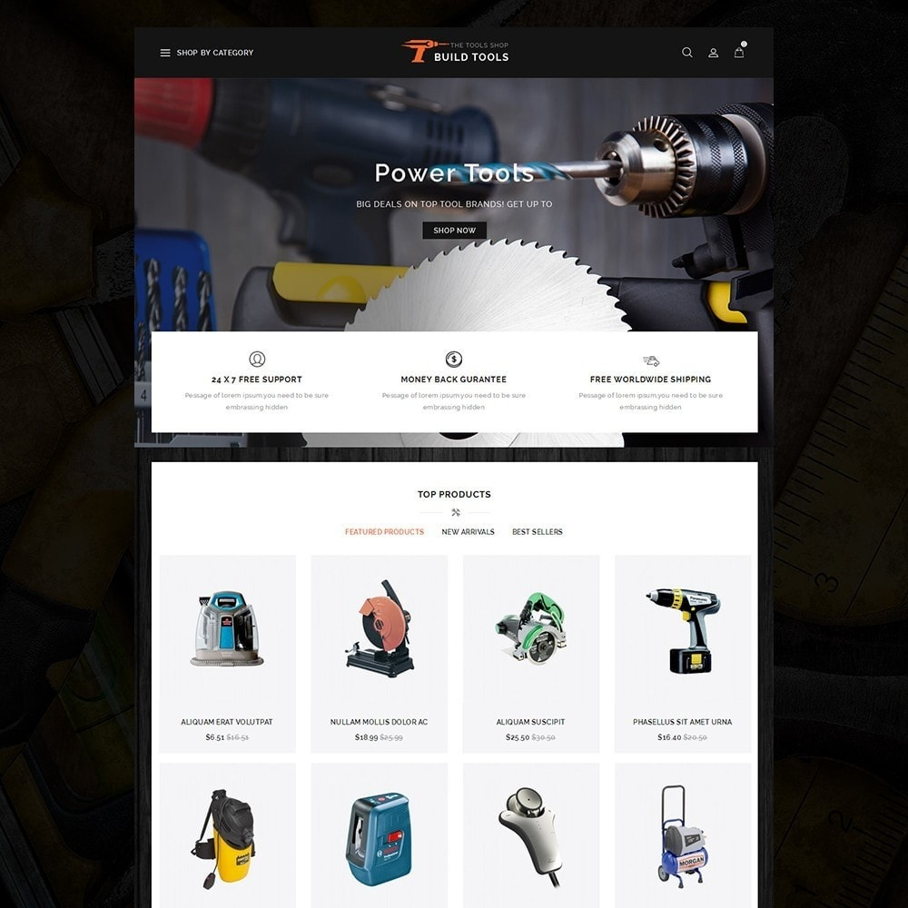 theme - Auto & Moto - Build Tools - Online Store - 2