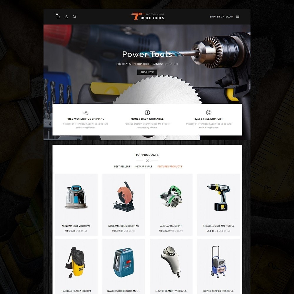 theme - Auto & Moto - Build Tools - Online Store - 7