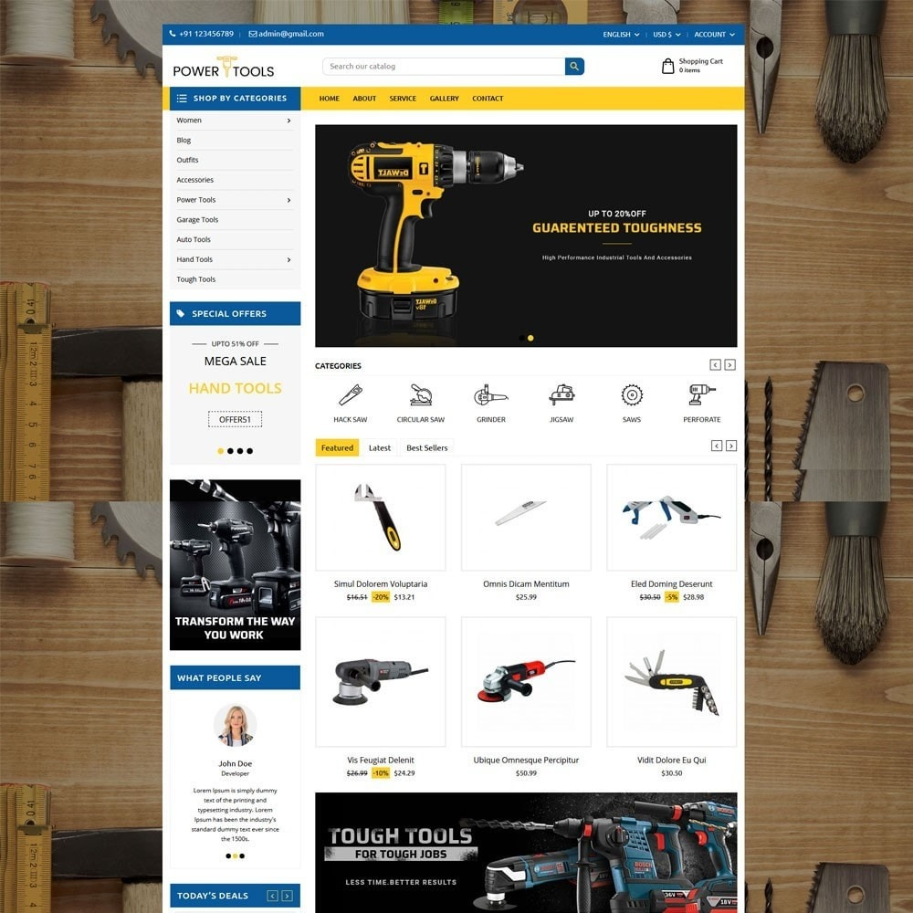 theme - Coches y Motos - Power Tools - 2