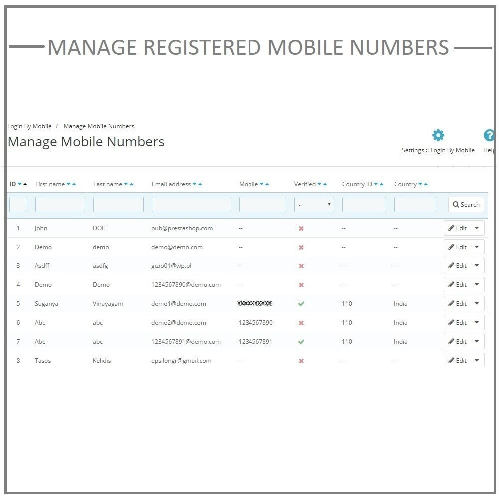 module - Mobile Endgeräte - Login by mobile phone number. Register by OTP SMS. - 6