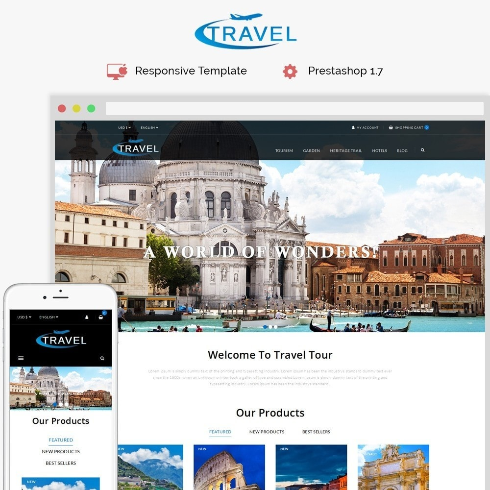 theme - Sports, Activities & Travel - Travel Shop - 1