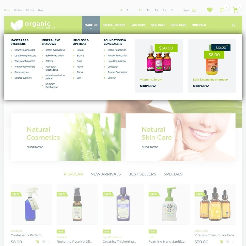 theme - Health & Beauty - Organic cosmetics - 4