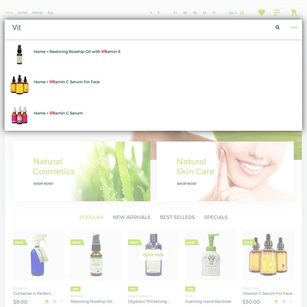 theme - Salud y Belleza - Organic cosmetics - 6
