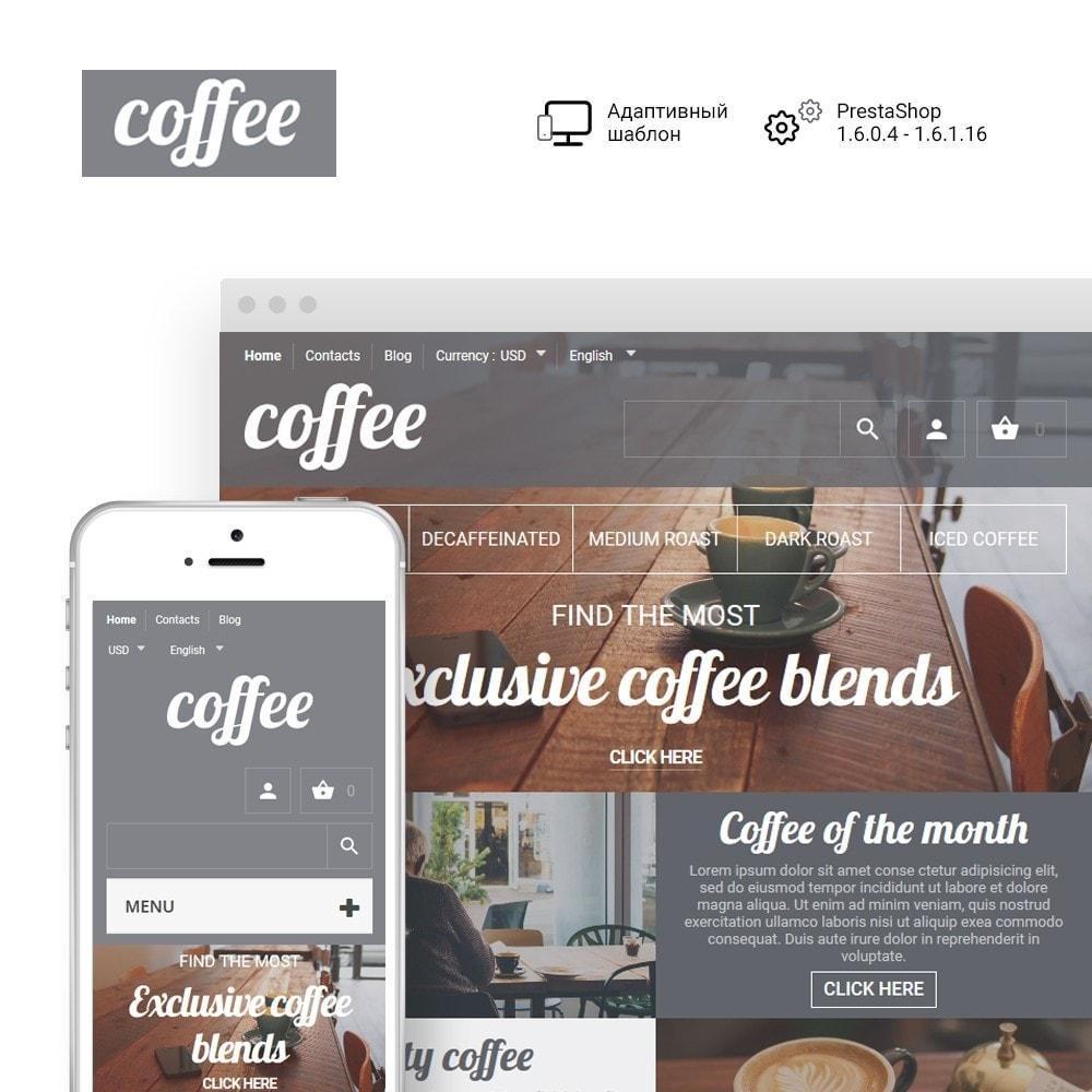 theme - Продовольствие и рестораны - Coffee - шаблон на тему магазин кофе - 1