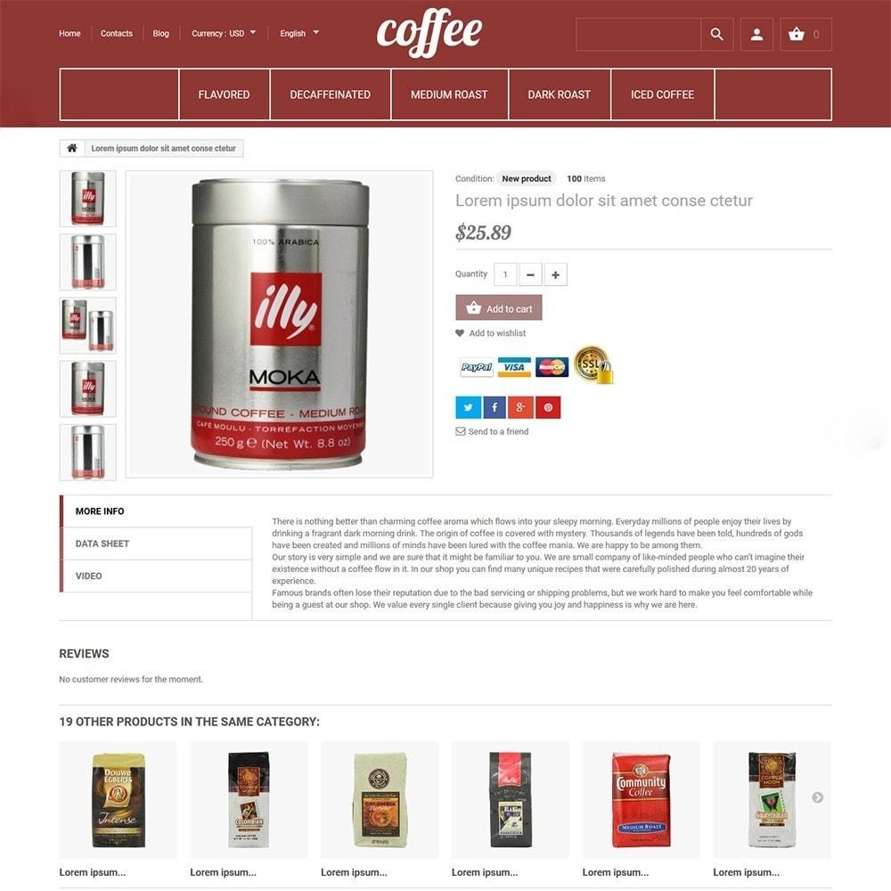 theme - Продовольствие и рестораны - Coffee - шаблон на тему магазин кофе - 3
