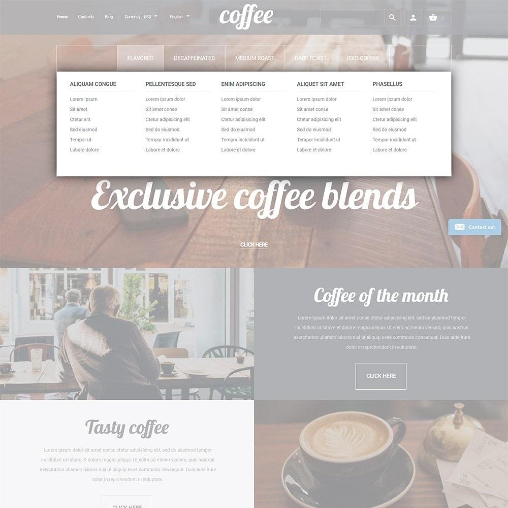 theme - Продовольствие и рестораны - Coffee - шаблон на тему магазин кофе - 4