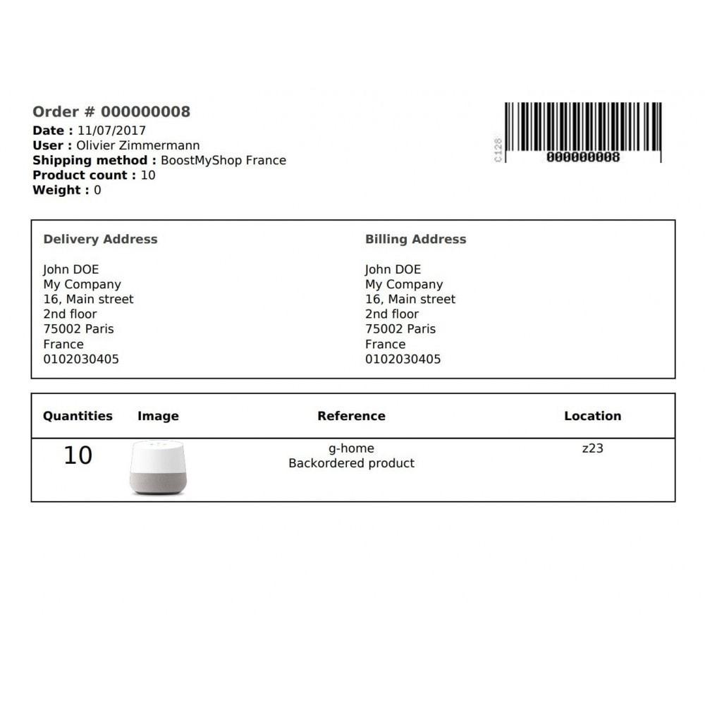 module - Gestión de Pedidos - Boostmyshop ERP - Order Preparation - 2