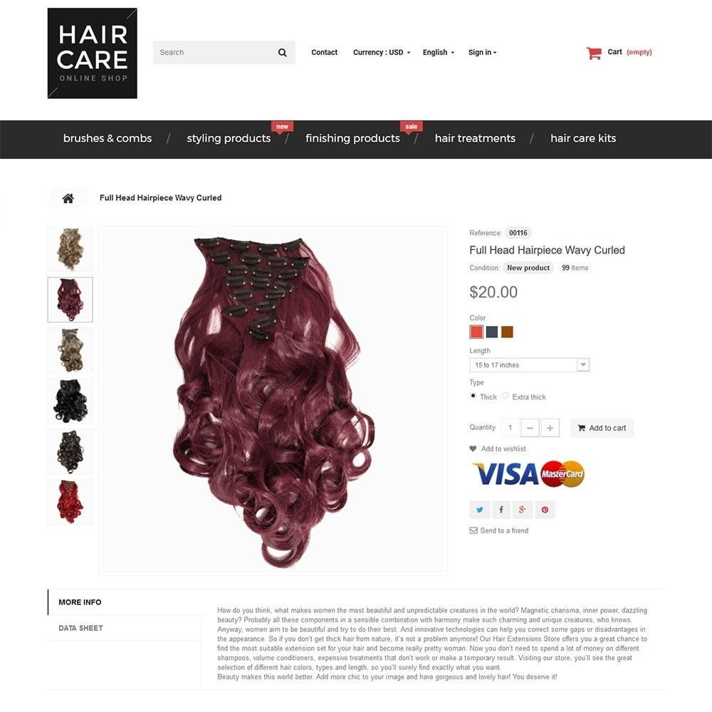 theme - Santé & Beauté - Hair Care - Brillance de cheveux thème - 3