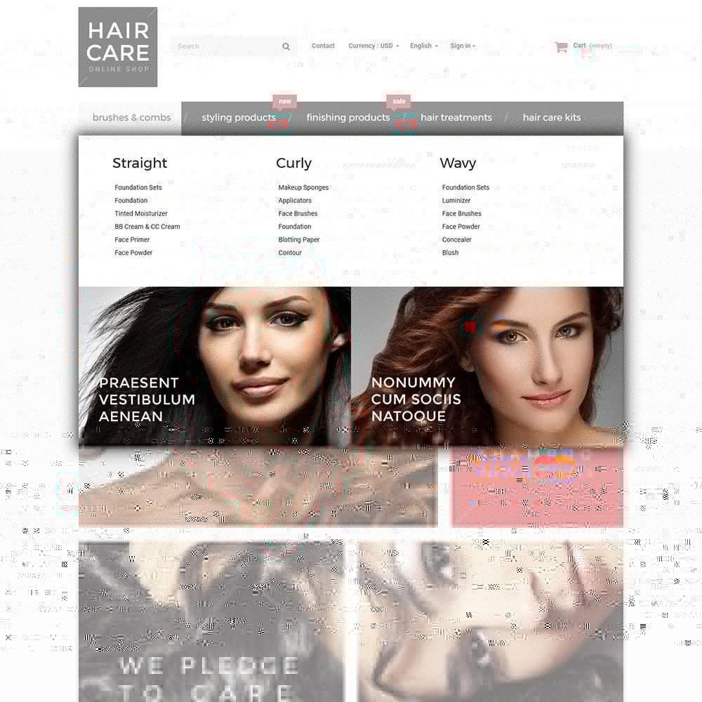 theme - Здоровье и красота - Hair Care - шаблон на тему парикмахерская - 4