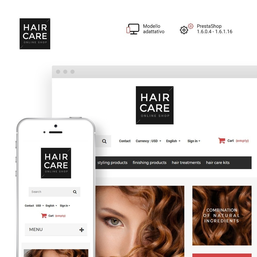 theme - Salute & Bellezza - Hair Care - Negozio di Bellezza - 1