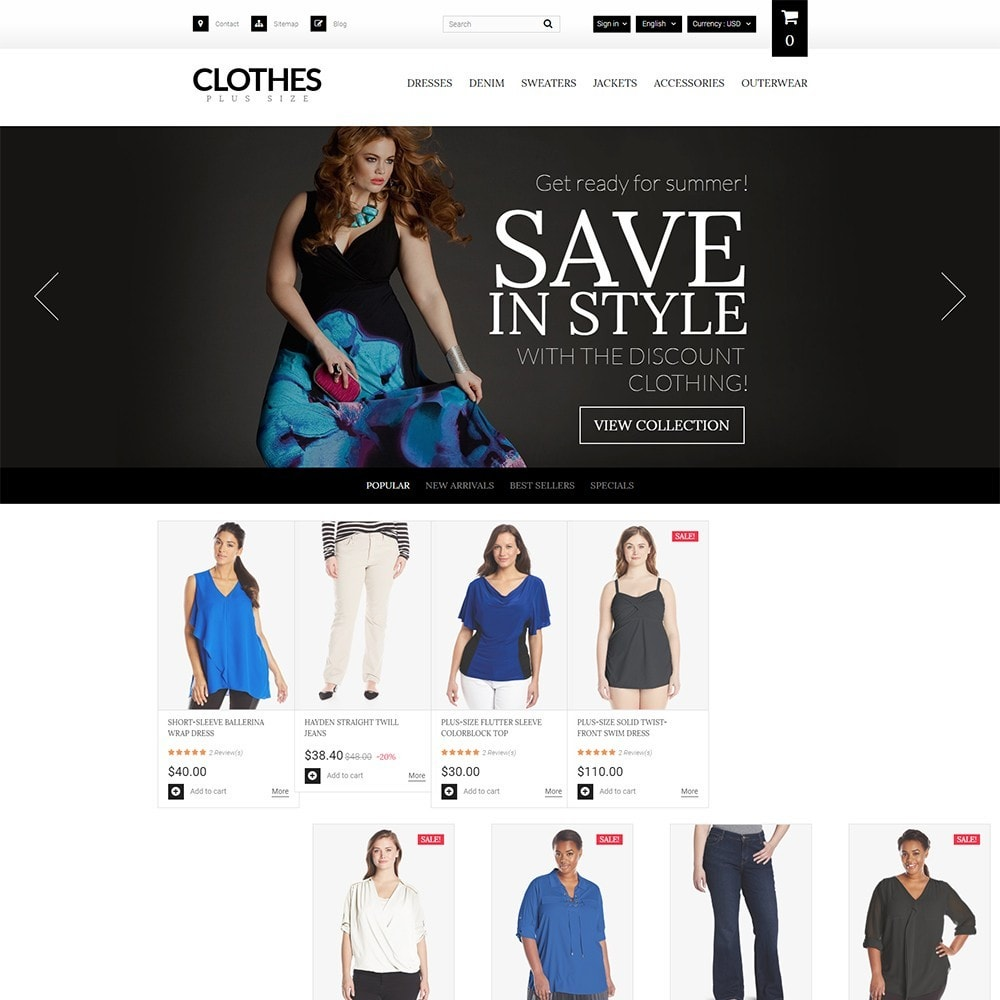 theme - Fashion & Shoes - Clothes Plus Size - Apparel Template - 2