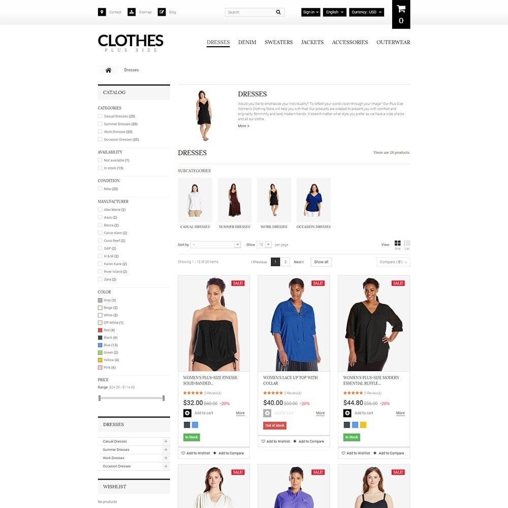theme - Fashion & Shoes - Clothes Plus Size - Apparel Template - 5