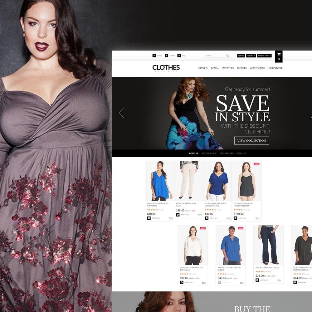 theme - Moda y Calzado - Clothes Plus Size - para Sitio de Ropa - 1