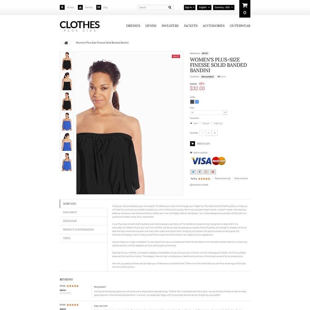 theme - Moda y Calzado - Clothes Plus Size - para Sitio de Ropa - 4