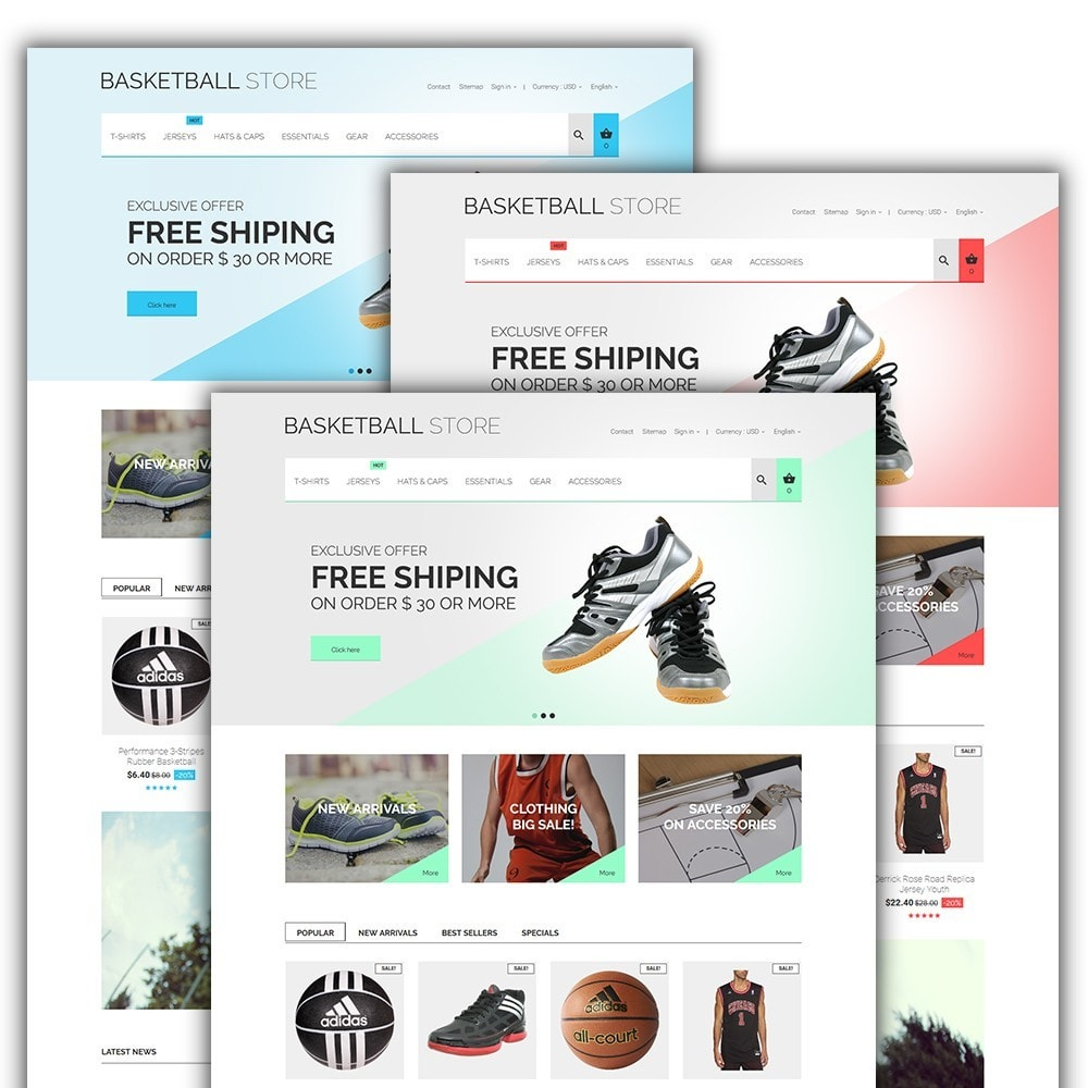 theme - Sports, Activities & Travel - Basketball Store - 2