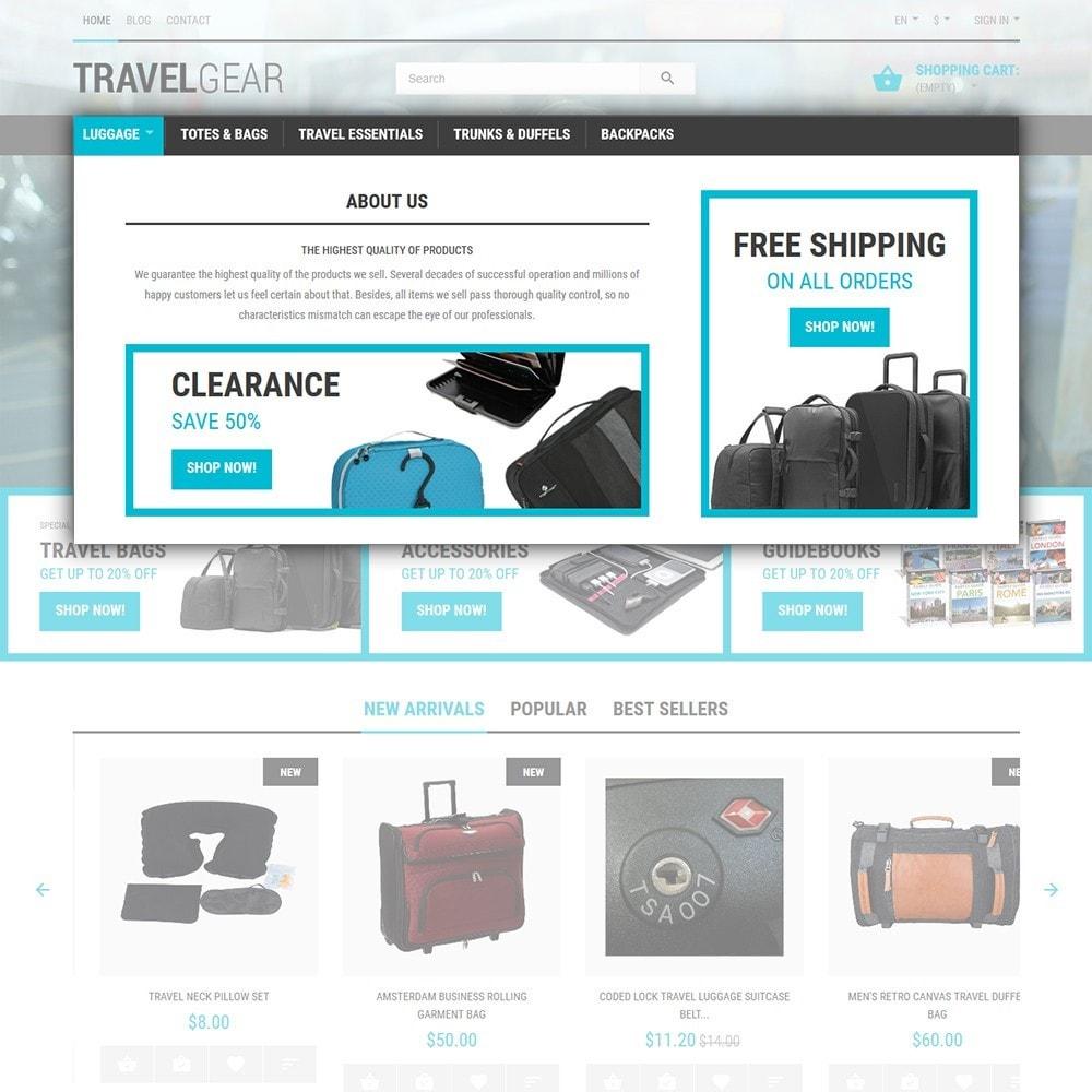 theme - Deportes, Actividades y Viajes - Travel Gear - para Sitio de Tienda de Viajes - 4