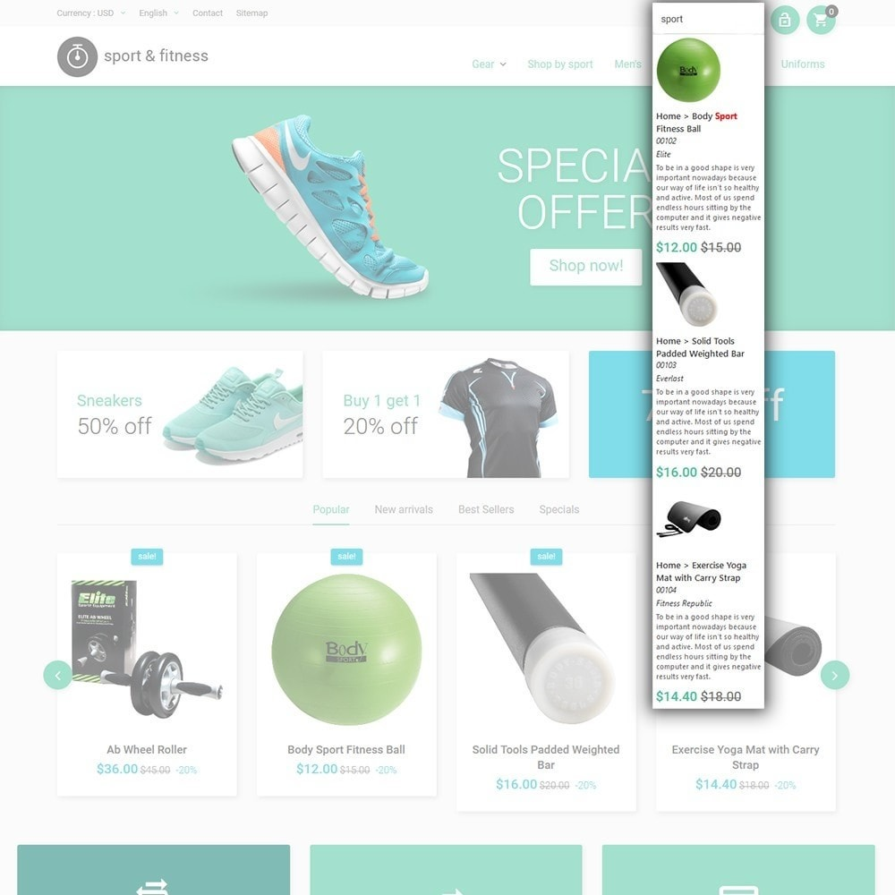 theme - Sports, Activities & Travel - Sport&Fitness - Fitness Template - 6
