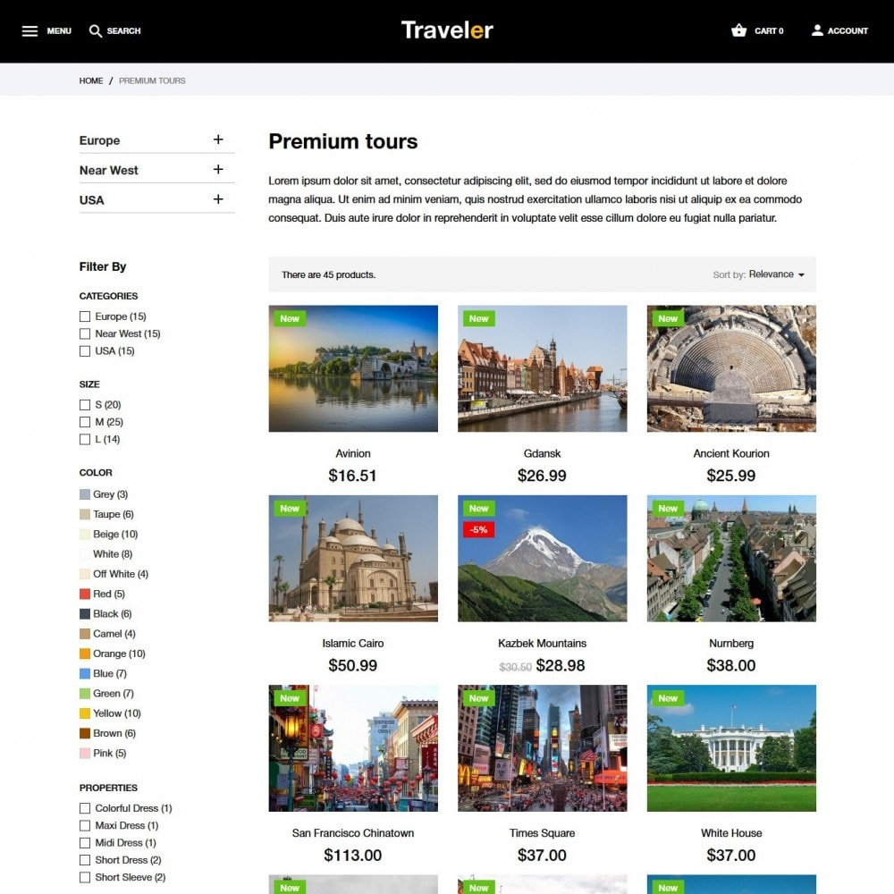 theme - Sports, Activities & Travel - Traveler - 6