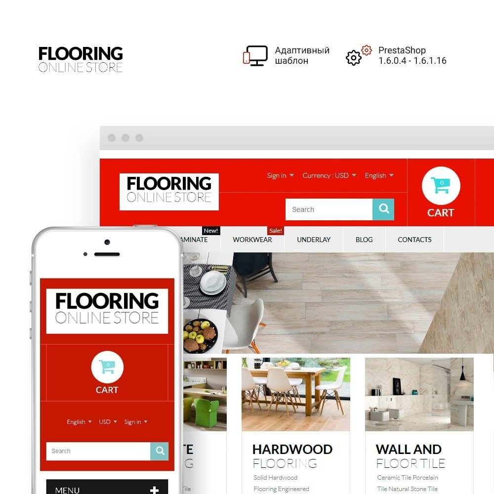 theme - Искусство и Культура - Flooring Online Store - 1