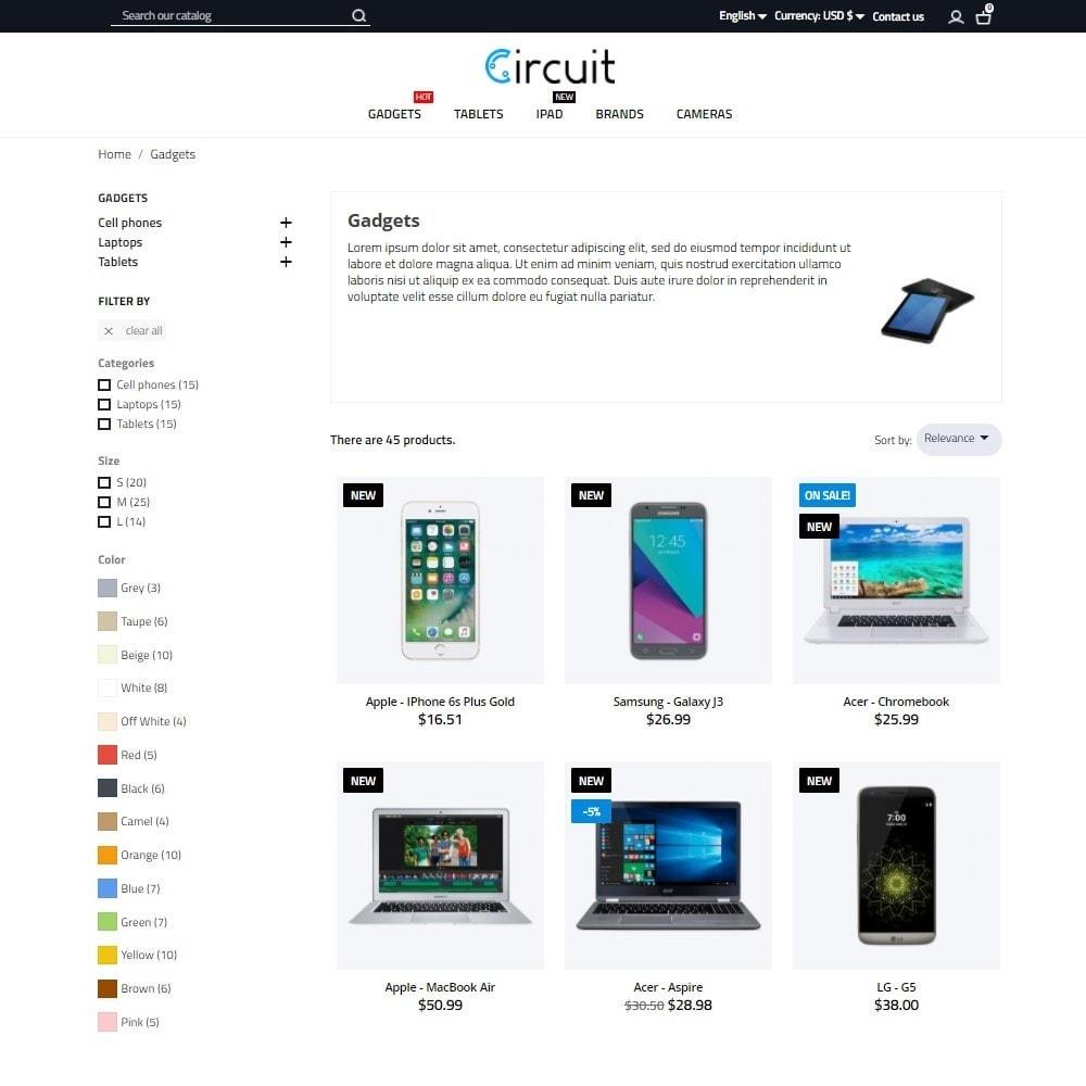 theme - Электроника и компьютеры - Circuit - High-tech Shop - 6