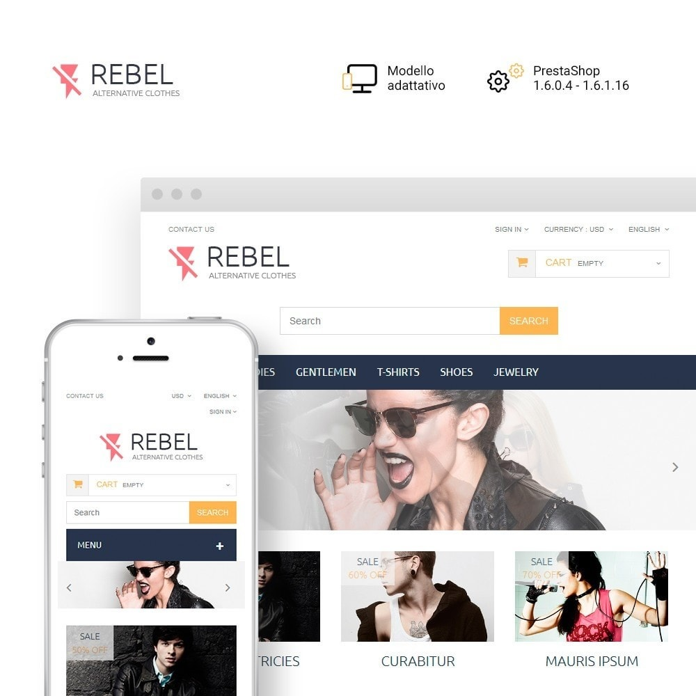 theme - Moda & Calzature - Rebel - 1