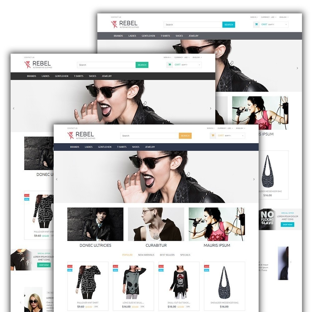 theme - Moda & Calzature - Rebel - 2