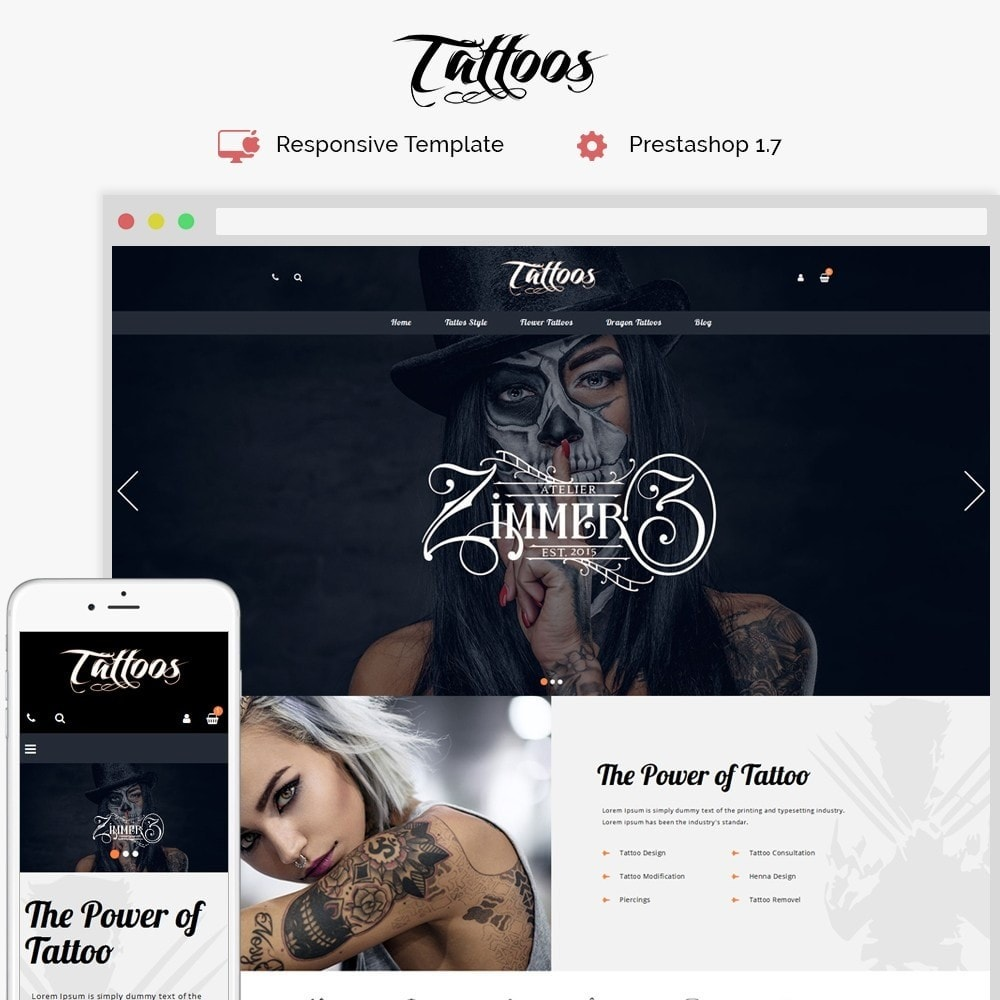 theme - Mode & Schoenen - Tattoos Shop - 1
