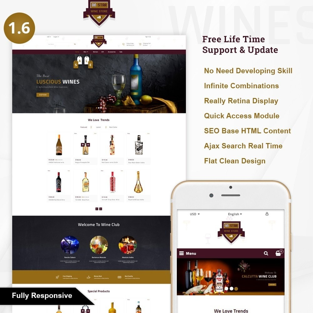 theme - Bebidas & Tabaco - On Star - Wine Store - 1