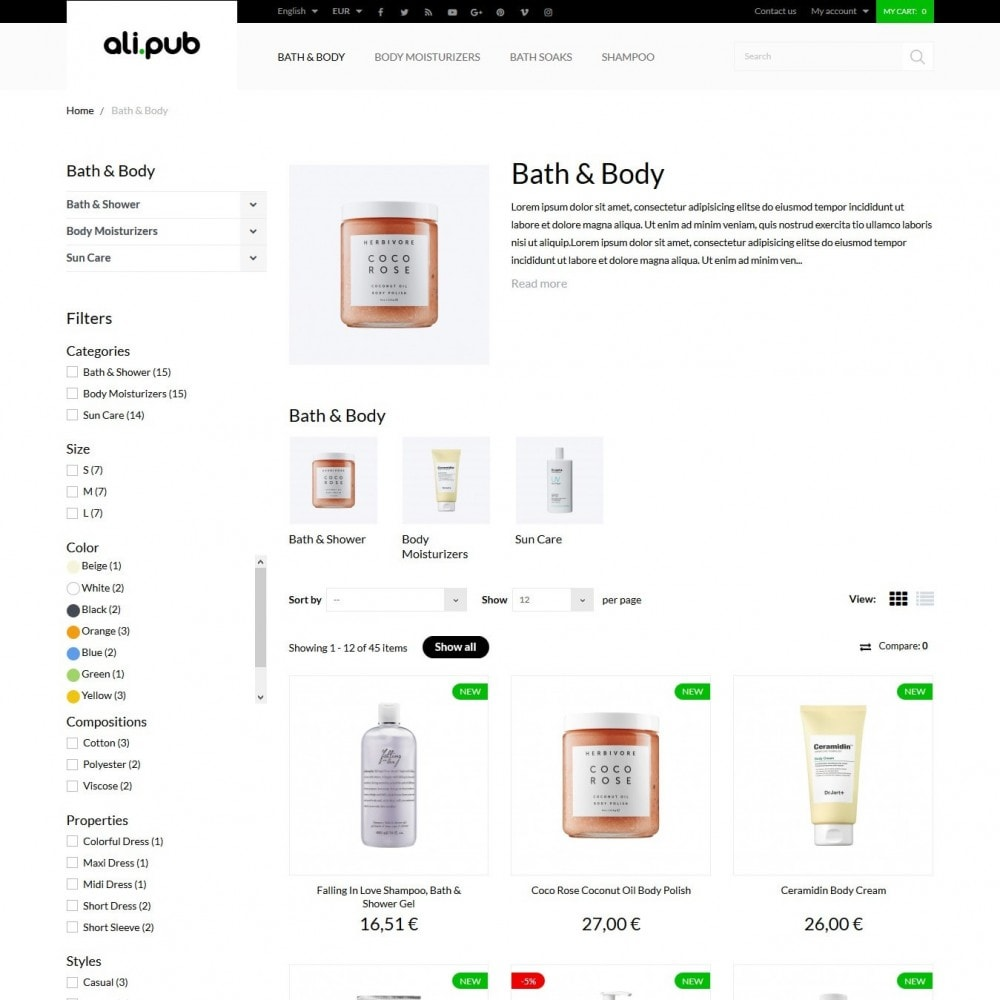 theme - Health & Beauty - Ali-pub Cosmetics - 5