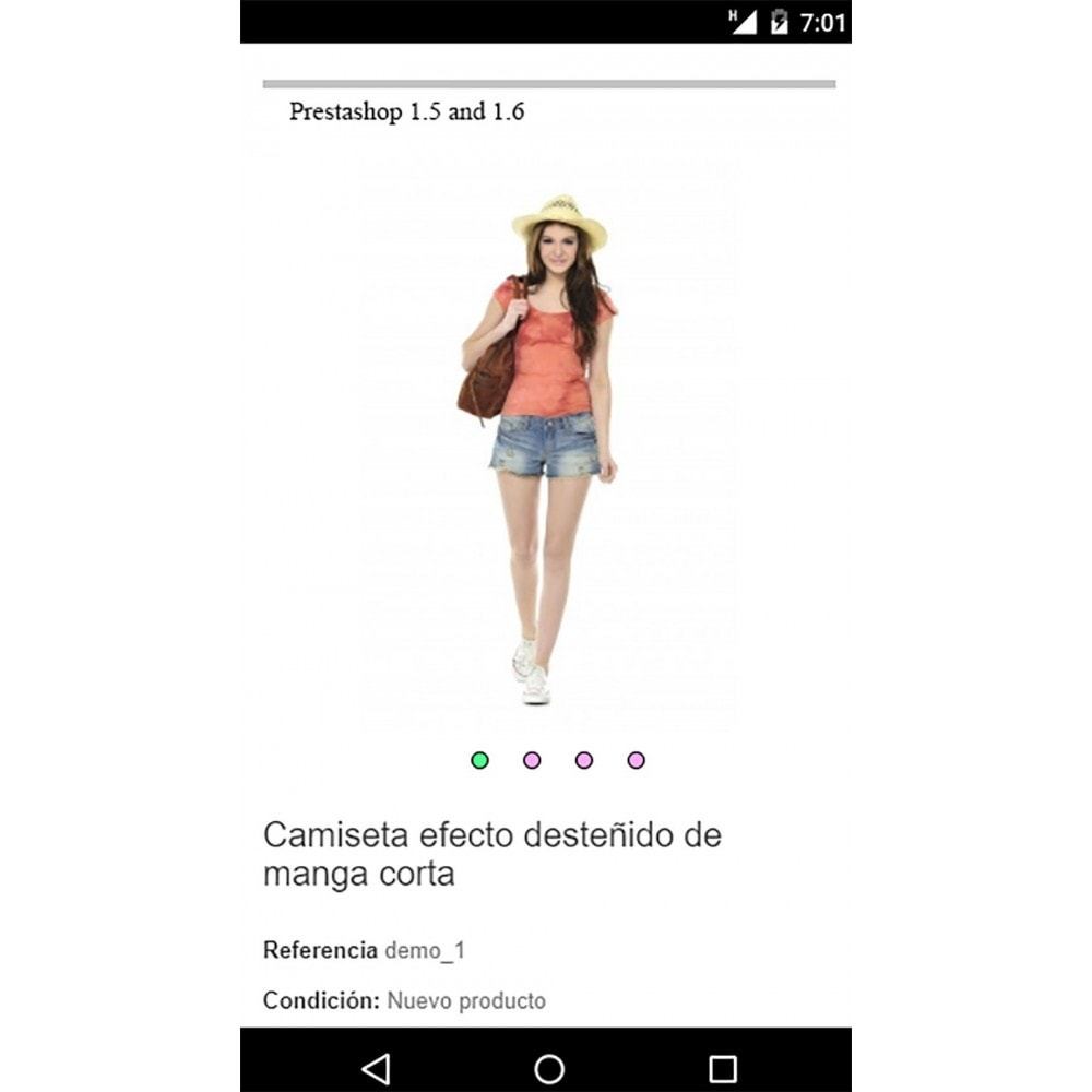 module - Sliders & Galeries - Image slider in a mobile product sheet - 3