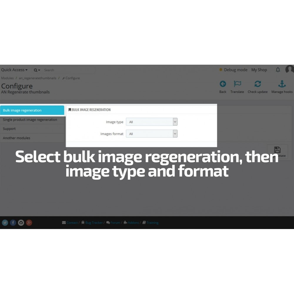module - Fast & Mass Update - Regenerate Thumbnails / Image size mass update - 3