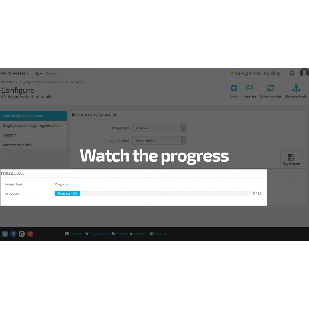 module - Fast & Mass Update - Regenerate Thumbnails / Image size mass update - 4