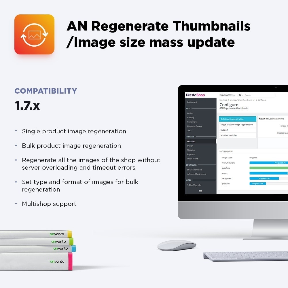 module - Fast & Mass Update - AN Regenerate Thumbnails / Image size mass update - 1