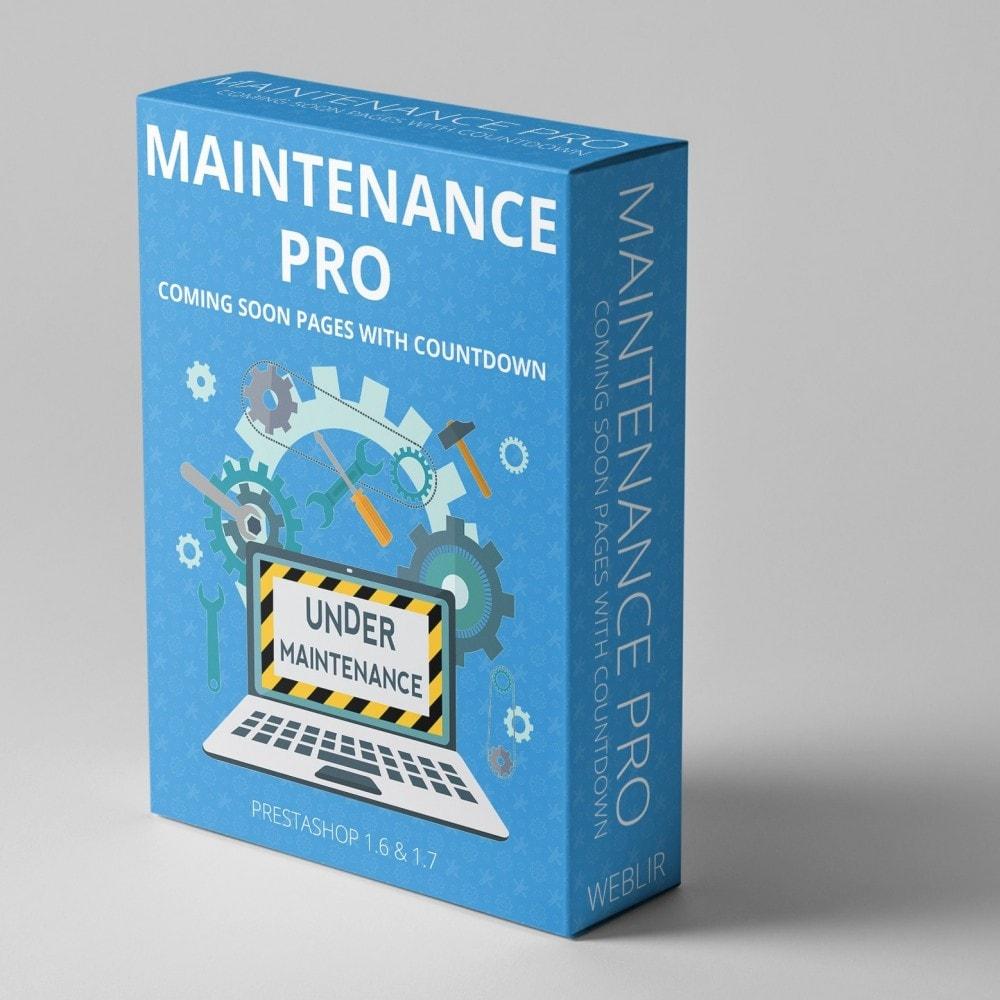 module - Personnalisation de Page - Maintenance Pro - Prochainement pages avec compte - 1