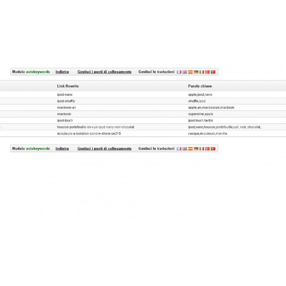 module - SEO (Indicizzazione naturale) - AUTO KEYWORDS GENERATOR - 7