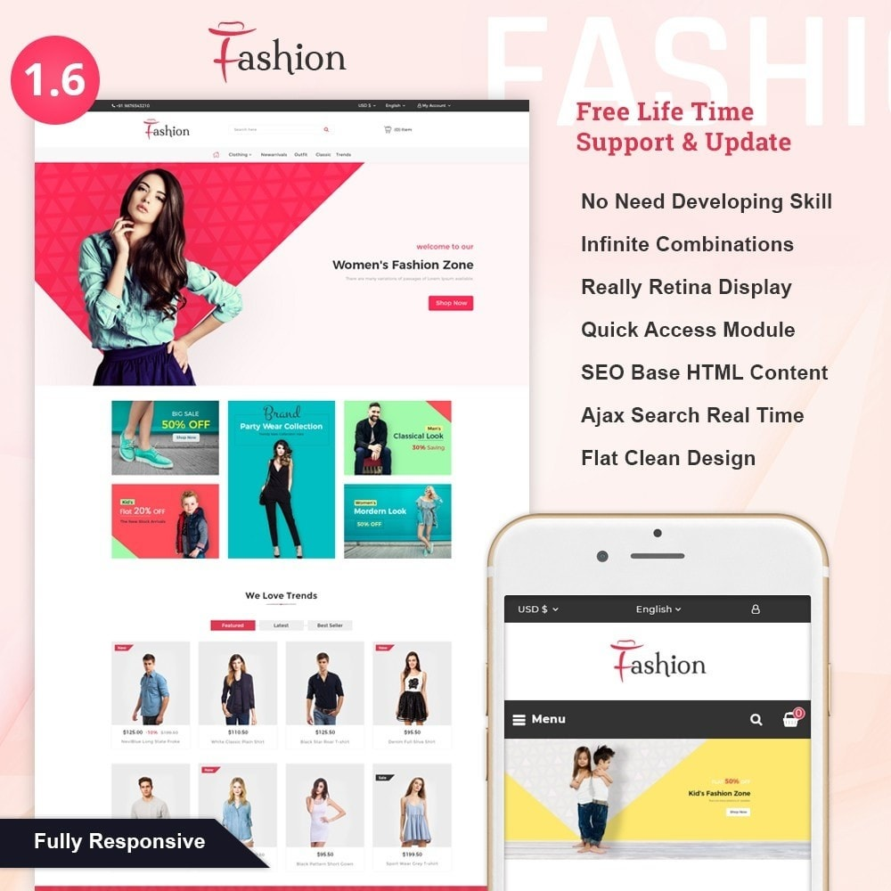 theme - Fashion & Shoes - Life Style - Fashion Shop - 1
