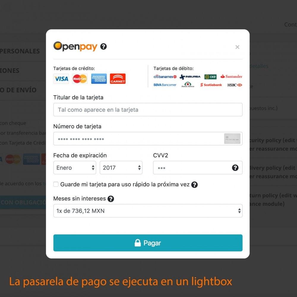 module - Pago con Tarjeta o Carteras digitales - Openpay Plus - 9