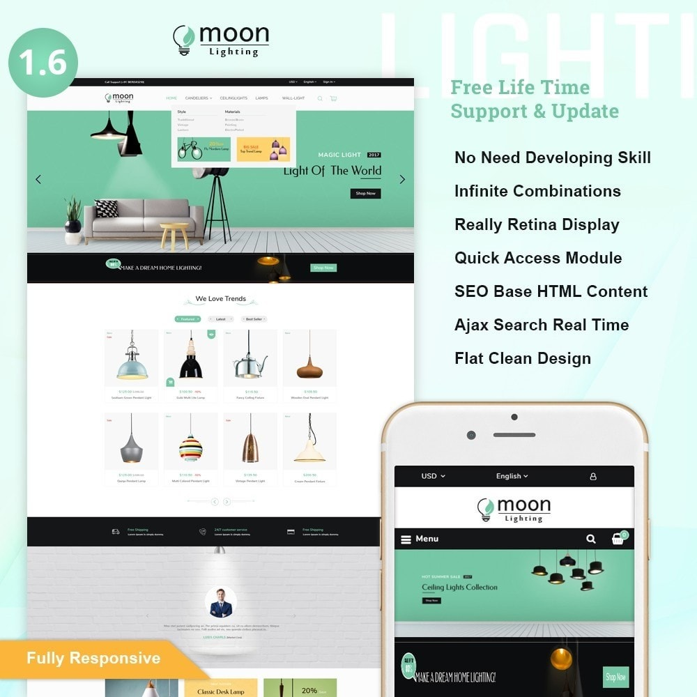 theme - Hogar y Jardín - Moon – Lighting Decor Shop - 1