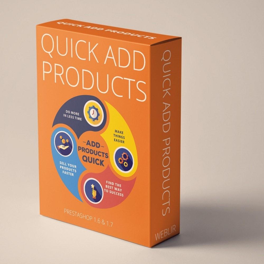 module - Quick Eingabe & Massendatenverwaltung - Quick Add-Produkte - Erstellen Sie Produkte schneller - 1