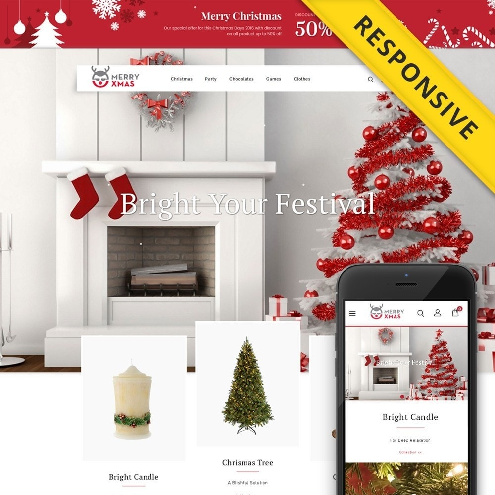 theme - Gifts, Flowers & Celebrations - Merry XMAS - Gifts & Flowers Store - 1